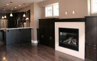 Outdoor fireplace on Custom