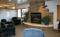 Propane fireplace on Custom