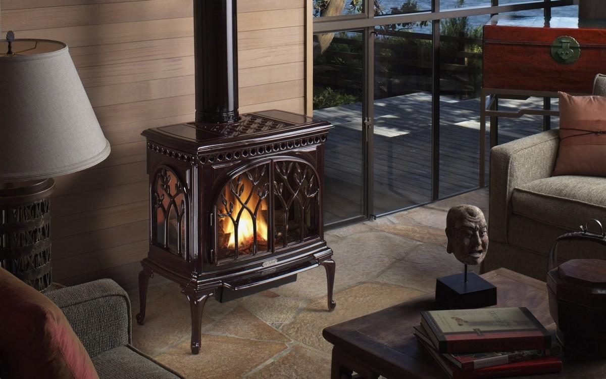 Ventless gas fireplace on Custom