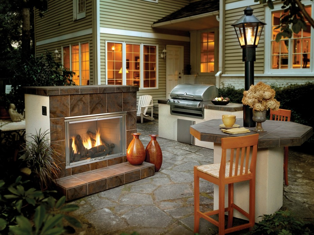 Outdoor gas fireplace kits on CustomFireplace Quality electric gas and wood fireplaces and