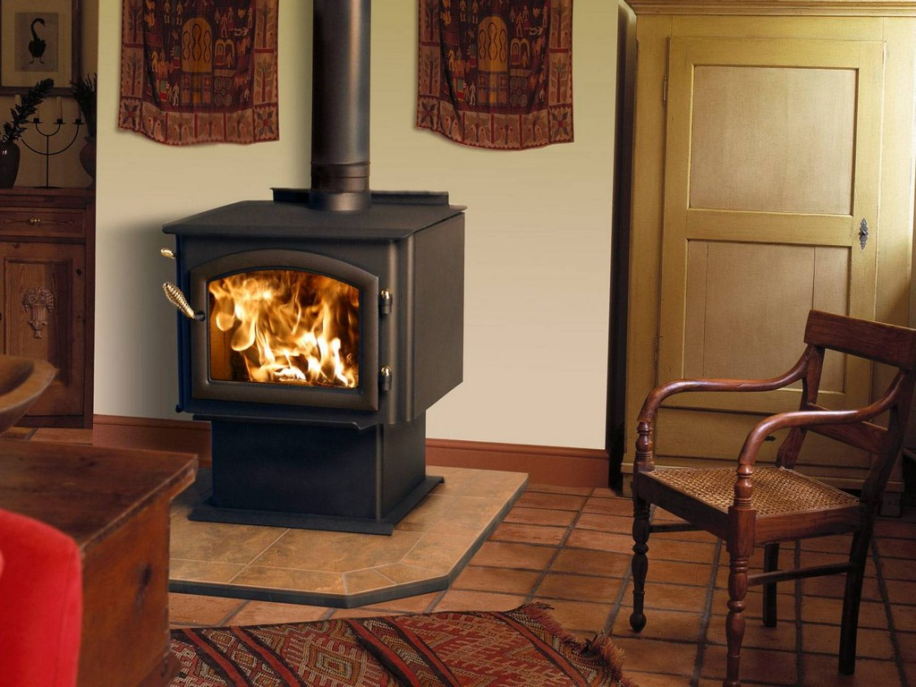 Schrader Wood Stove On Custom Fireplace Quality Electric