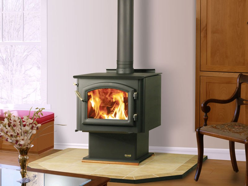 Wood stove wall protection on CustomFireplace Quality