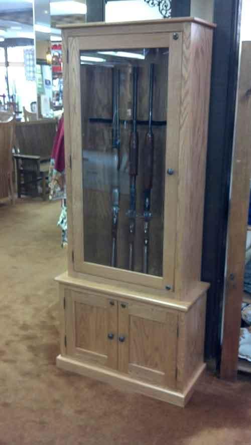 Amish Custom Gun Cabinet Idea Gallery  Amish Custom Gun