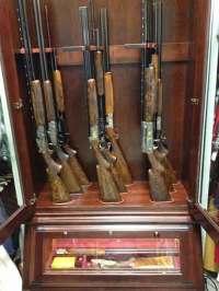 Custom Made Amish Made Custom Gun Cabinet | Car Interior ...
