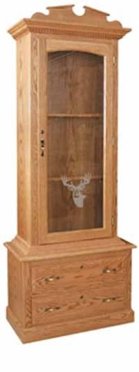 Amish Gun Cabinets in Standard Designs - Amish Custom Gun ...