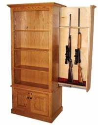 Amish Gun Cabinets in Standard Designs - Amish Custom Gun ...