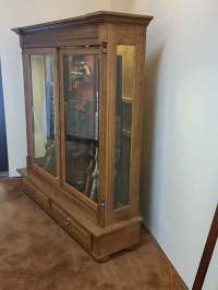 Amish Custom Crafted Combo Low Profile 16 Gun Cabinet ...
