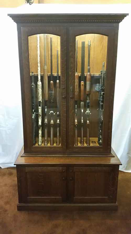 12 gun cabinet Amish made for shotguns rilfes or other