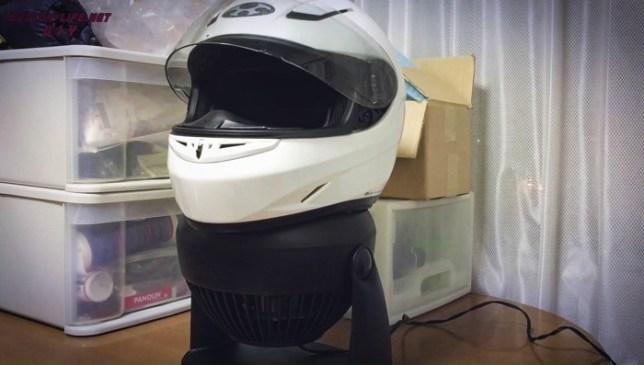 Motorcyclehelmet dry