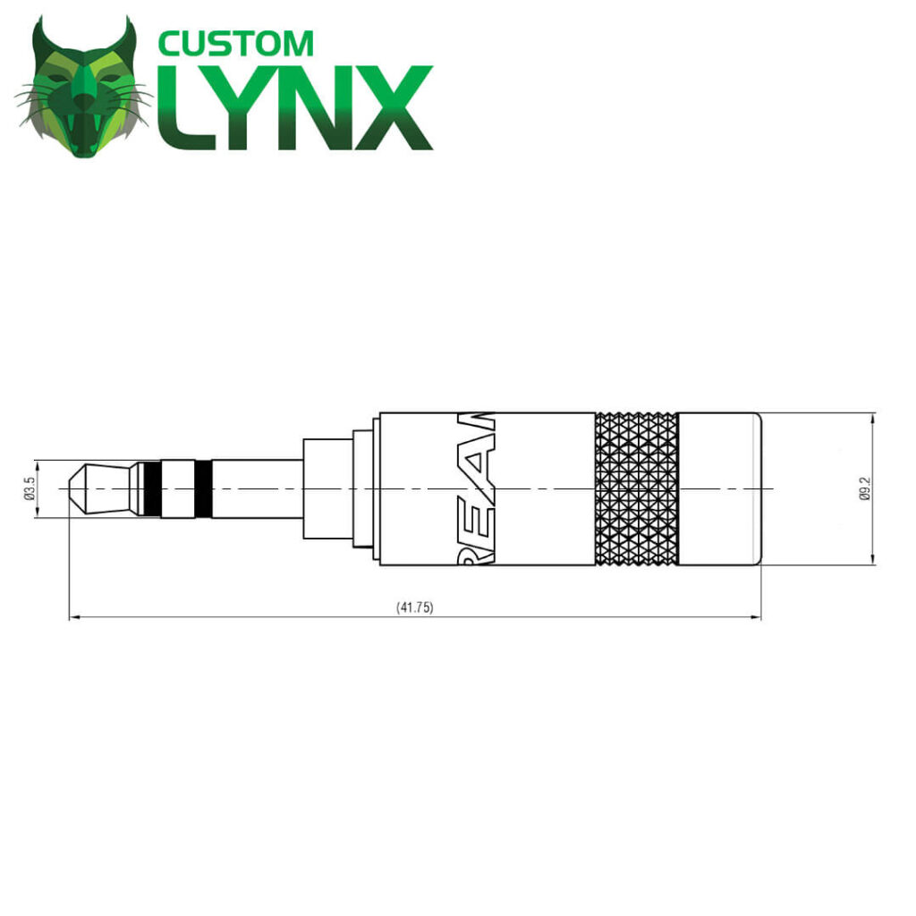 Rean 3.5mm Mini Jack Plug – NYS231LBG