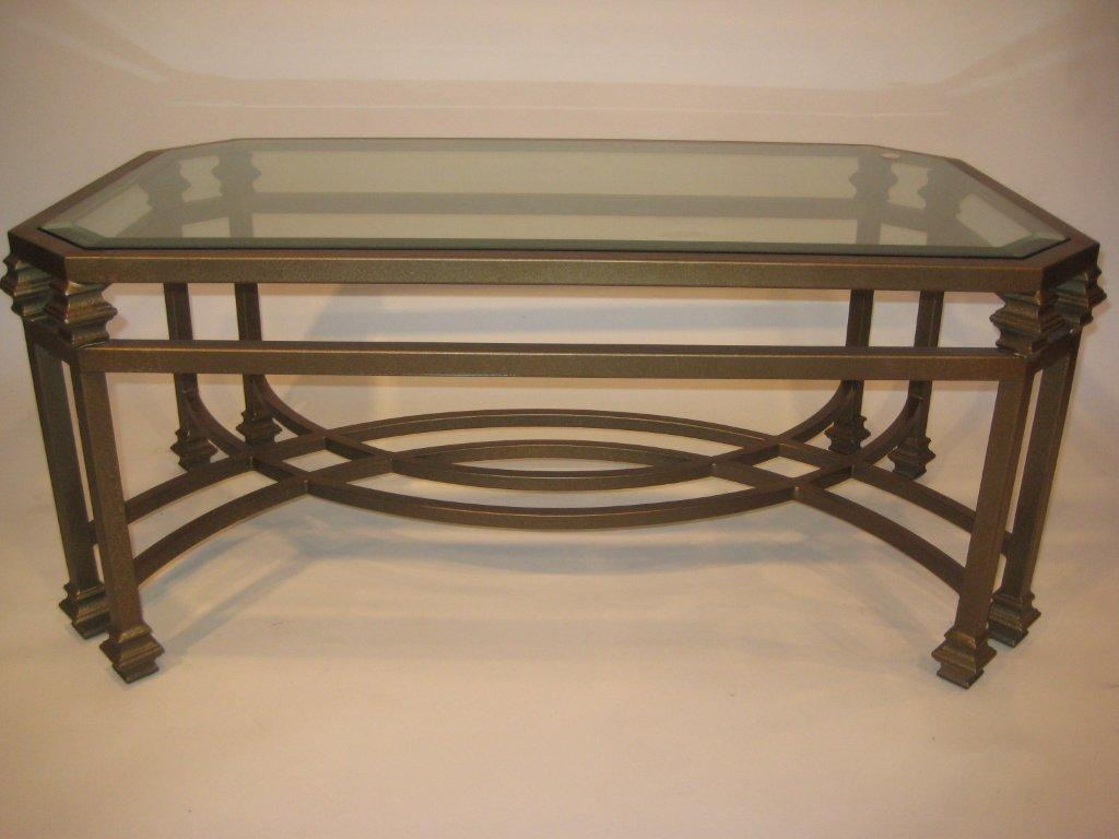 Double Leg Coffee Table Wrought Iron