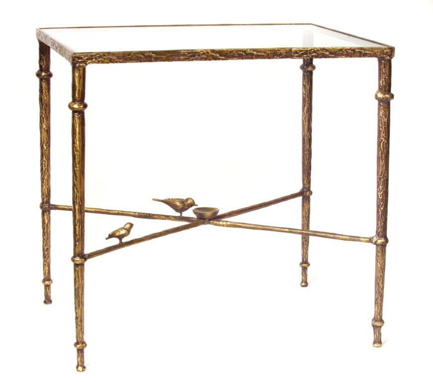 Diego Giacometti End Bronze Table Night Stand