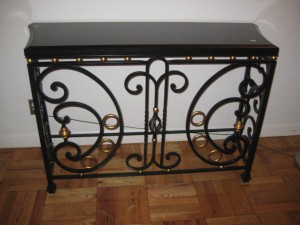 Traditional Marble Steel Console