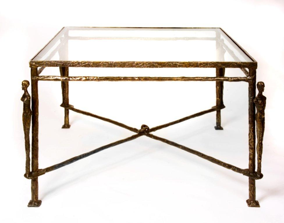 Diego Giacometti Caryatids Bronze Table