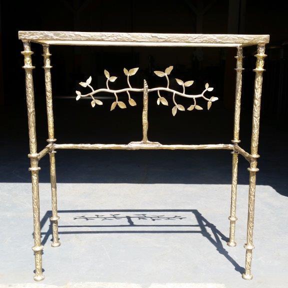 Giacometti Console Satin Bronze Finish
