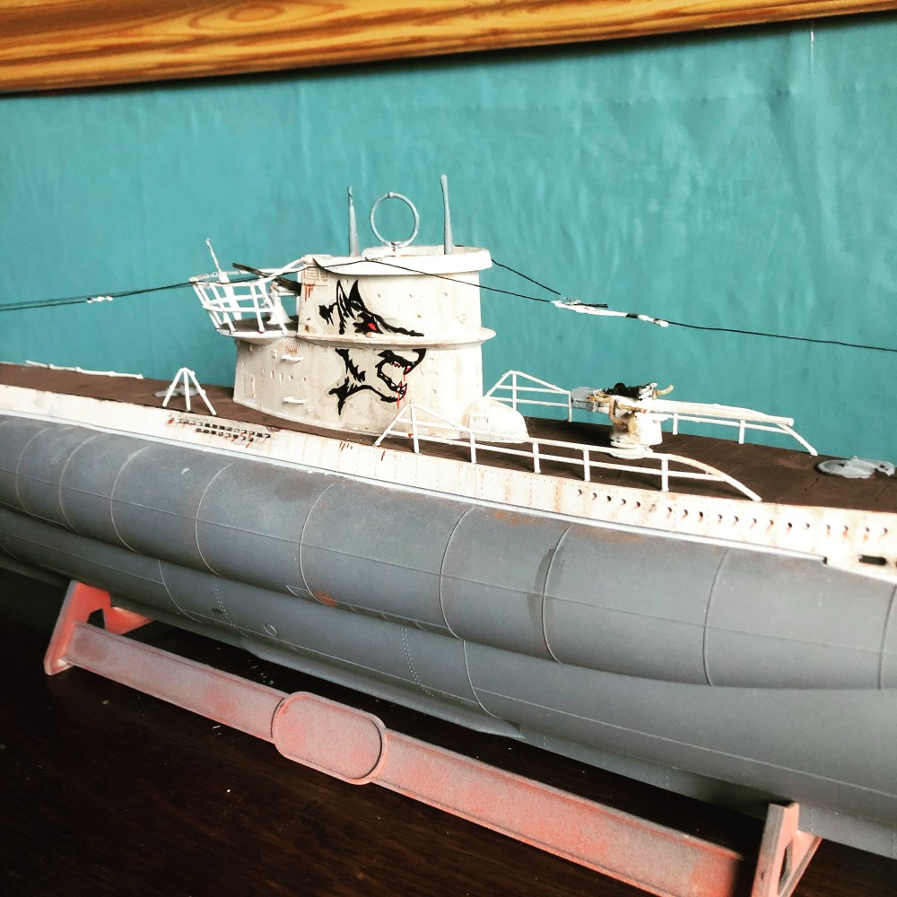 "1:72 ""Wolf's Head"" Custom Model Decals decal from the film 'Greyhound' on U-Boat modelled by William Ennion"