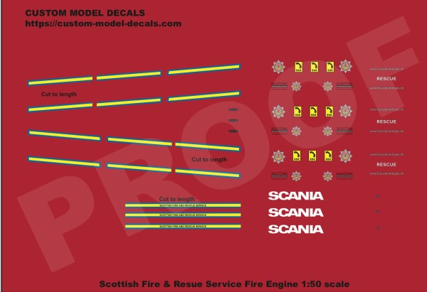 1:50 scale Scottish Fire Service