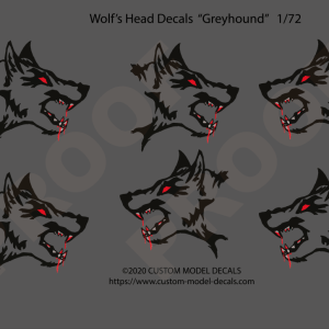 Wolf's Head decals to fit 1:72 scale type VII German U-Boat conning tower