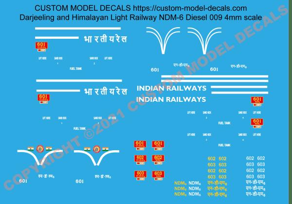 NDM6 Diesel 4mm/ft 009 Scale Darjeeling Himalayan Light Railway