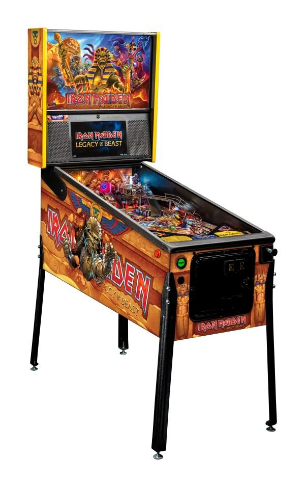 Iron maiden pinball machine