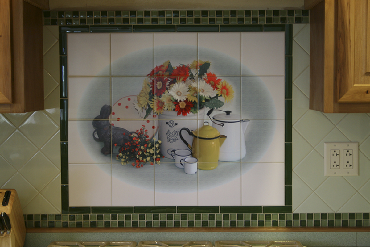 kitchen backsplash murals antique appliances grannies vignette jpg 1200800 azulejos y baldosas
