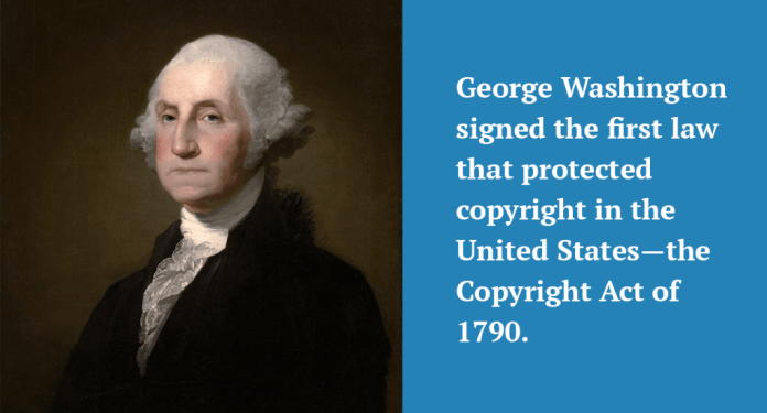 First law that protected copyright