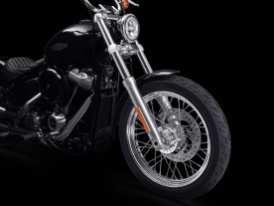 Auch die Räder-Reifenkombination entspricht der Street Bob