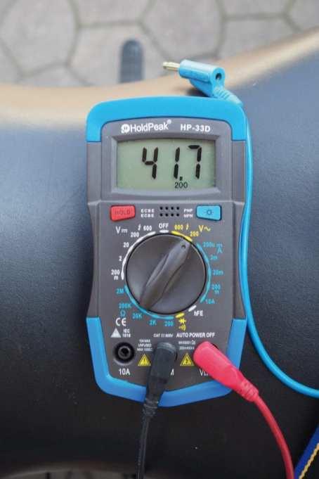 … und knapp über 40 V sind eindeutig zu wenig