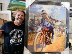 Einer von Bills besten Kumpeln, vom Künstler David Uhl auf Leinwand gebracht