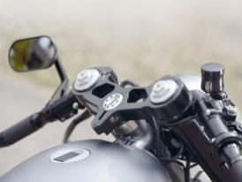 Sportlich: Die Gabelbrücke stammt von einer Ducati 999