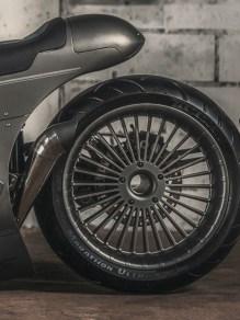 Die turbinenartigen Räder sind eine Einzelanfertigung