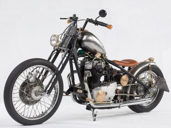 Das Frontend ist ziemlich amerikanisch: DNA-Springergabel und Scheibenbremse von Harley-Davidson