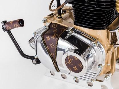 Brown Monogram: Details wie Lederapplikationen oder Reißverschlüsse fanden sich auch schon an Ed-Turner-Bikes