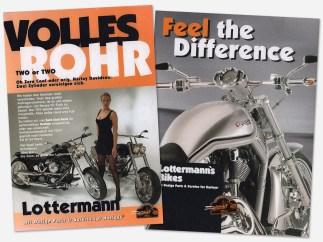 In Zeiten ohne Internet gab es noch Kataloge von Customizern, der von Lottermann war einer der ersten in Deutschland. Heute läuft das Hauptgeschäft übers Internet oder telefonischen Kontakt, die alten Kataloge sind Raritäten geworden