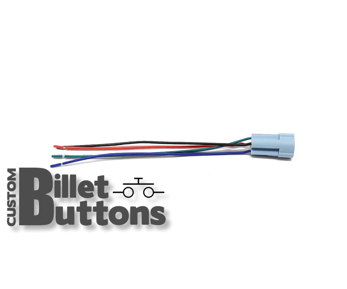 Pigtails Connector Custom Billet Buttons