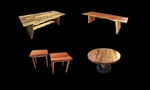 custom evan wittels furniture live raw edge wood Raleigh NC