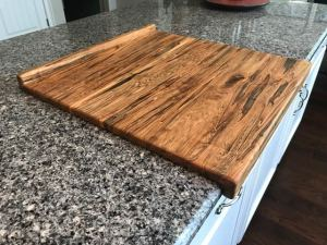 ambrosia maple noodle board cutting board over kitchen counter