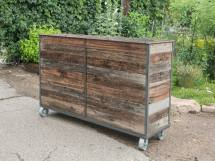 Reclaimed Steel Frame Planters - Custom Rushton Llc