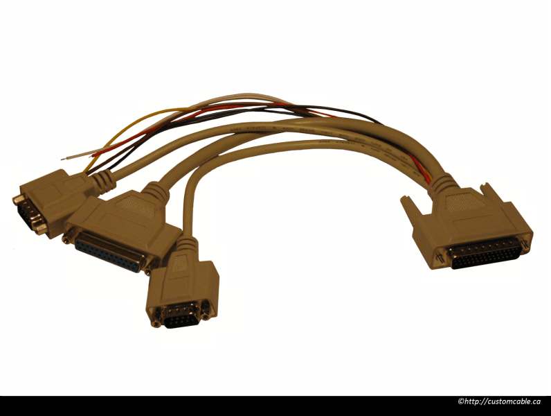 DB44-to-DB25-and-DB9-Split-Data-Cable-Assembly-RS422 – CustomCable