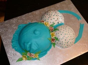 Baby Feet Maternity Cake