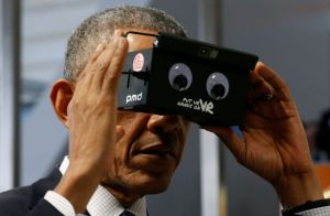 OBAMA AND VR on Custom College Visits