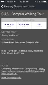 Mobile App Custom College Visits Mobile App