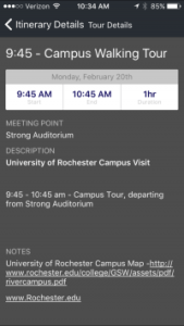 Mobile App Custom College Visits Mobile App
