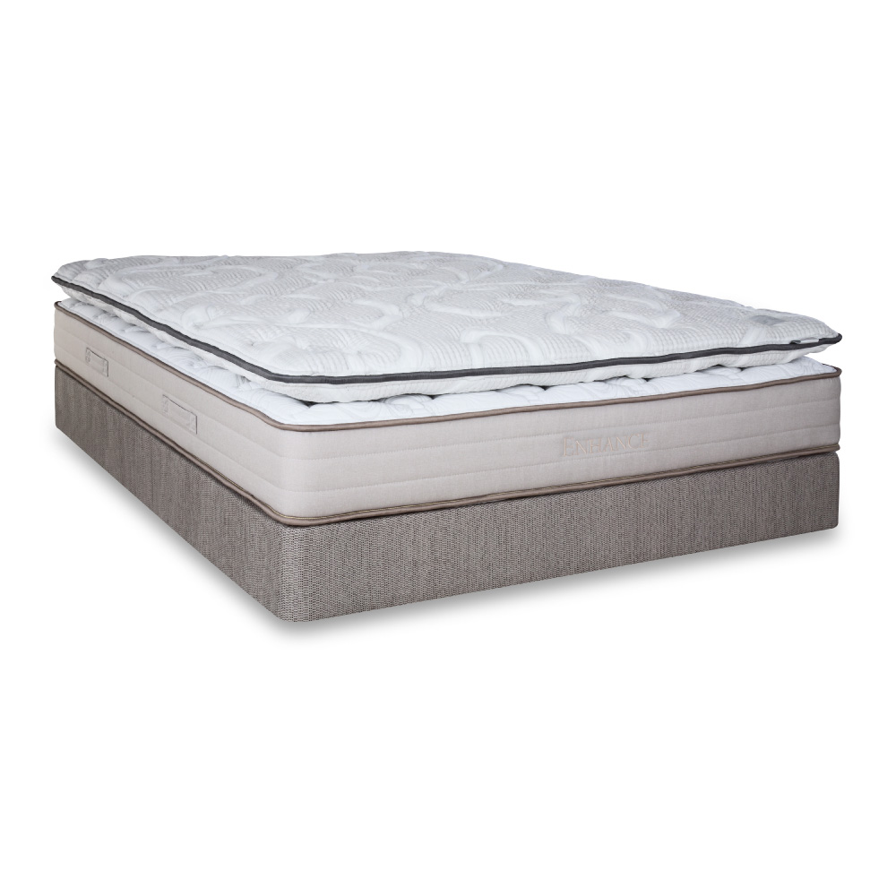 enhance 1 1 with foam topper double sided plush high density foam mattress with plush 4 fm 2 2 topper