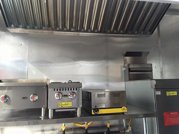 Inside of Food Truck