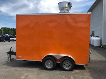 orange food truck