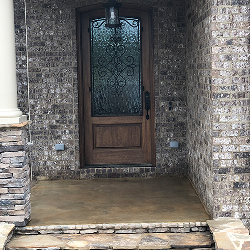 stained concrete patio custom