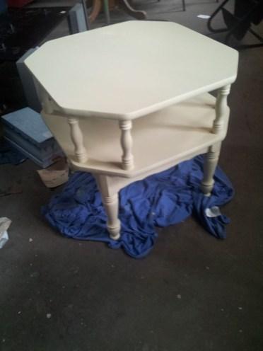 Vintage side table after pic