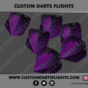 Custom Darts Flights - Purple Poison
