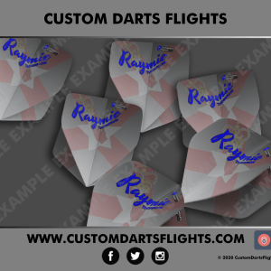 Custom Darts Flights - Grey Ulster Custom Darts Flights